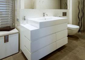 现代立体浴室柜实景