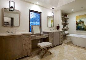 美式木质浴室柜美图