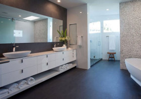 现代大气浴室柜欣赏