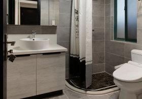 简约米色浴室柜近景