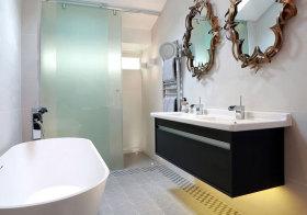 欧式悬浮浴室柜设计