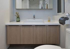 宜家木色浴室柜美图