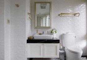 美式百叶浴室柜美图