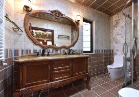 欧式木质浴室柜设计