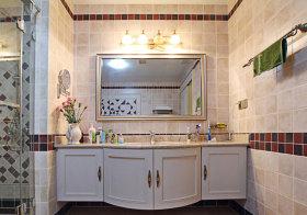 东南亚弧形浴室柜实景