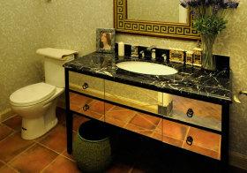 混搭镜面浴室柜实景