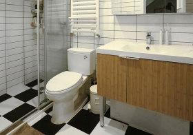 混搭黑白浴室柜近景