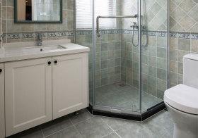简欧白色浴室柜实景