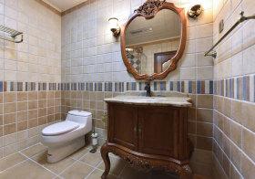 欧式雕花浴室柜欣赏