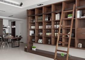现代木质酒柜实景图
