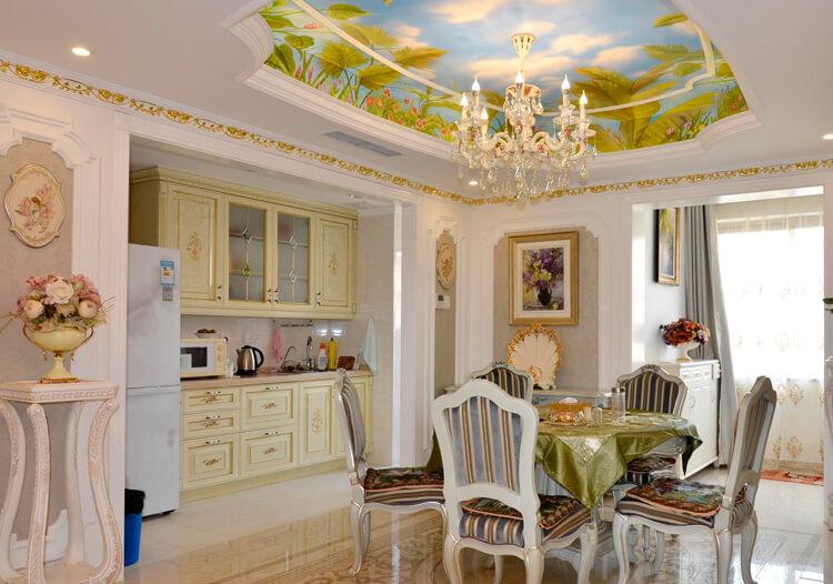 地中海风格儿童房窗帘装修图片-地中海风格上下床图片