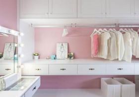 粉色衣帽间美图