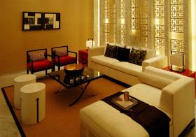 简约中式客厅实景图