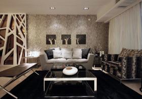 酷炫现代客厅装修图