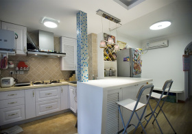 文艺地中海厨房装修图