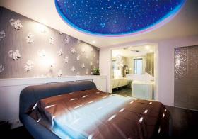 星空现代卧室实景图