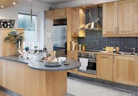 原木北欧厨房设计