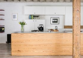 原木极简厨房设计