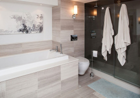 现代浴室装修效果