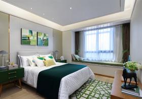 清新现代卧室效果实拍