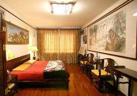 实木中式卧室设计
