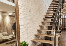 宜家风loft楼梯装修图片