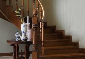复古混搭风格楼梯装修图片