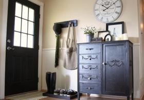 美式复古风格鞋柜装修图片