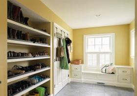 清新美式鞋柜装修图片