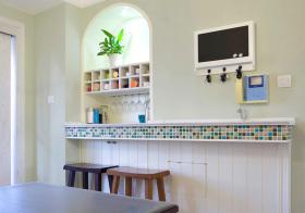 创意美式风格吧台装修图片