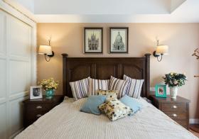 清新北欧卧室背景墙设计