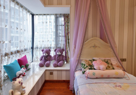 梦幻紫色儿童房设计