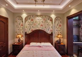 文艺田园卧室背景墙美图