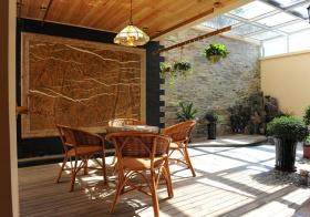 休闲中式花园设计