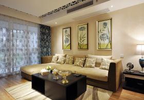 时尚简约沙发背景墙设计