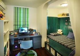 绿色地中海儿童房装修设计