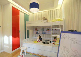 温馨现代儿童房设计