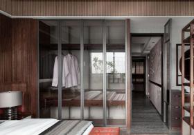 现代简约新中式风格衣柜装修图片