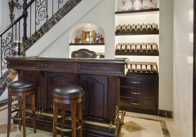 古典美式风格吧台装修图片