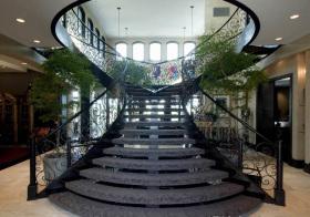 大气优雅混搭风格楼梯装修图片
