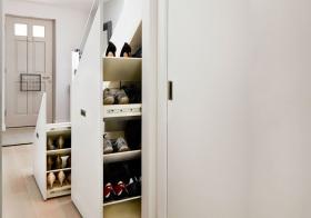 创意实用简约风格鞋柜装修图片