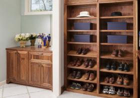 家居美式风格鞋柜装修图片
