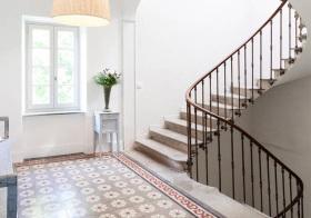 家居田园风格楼梯装修图片