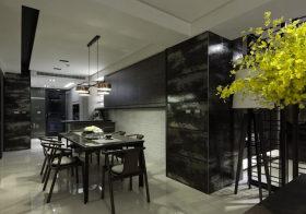 雅黑简约餐厅装修设计
