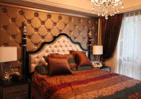 高贵古典卧室背景板欣赏