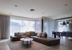 开放式简约客厅装修设计