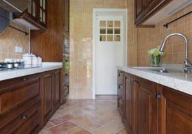 仿古美式厨房装修设计