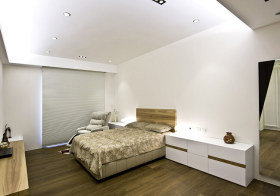 恬静极简卧室设计效果