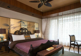 复古中式卧室装修效果