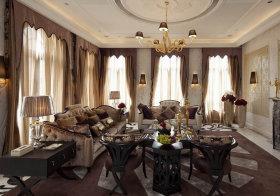 古典欧式客厅装修实拍